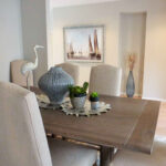 contemporary dining table showing Sacramento interior design and home staging