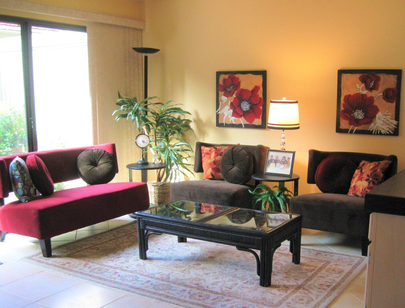 stylish living area showing Sacramento interior design and home staging