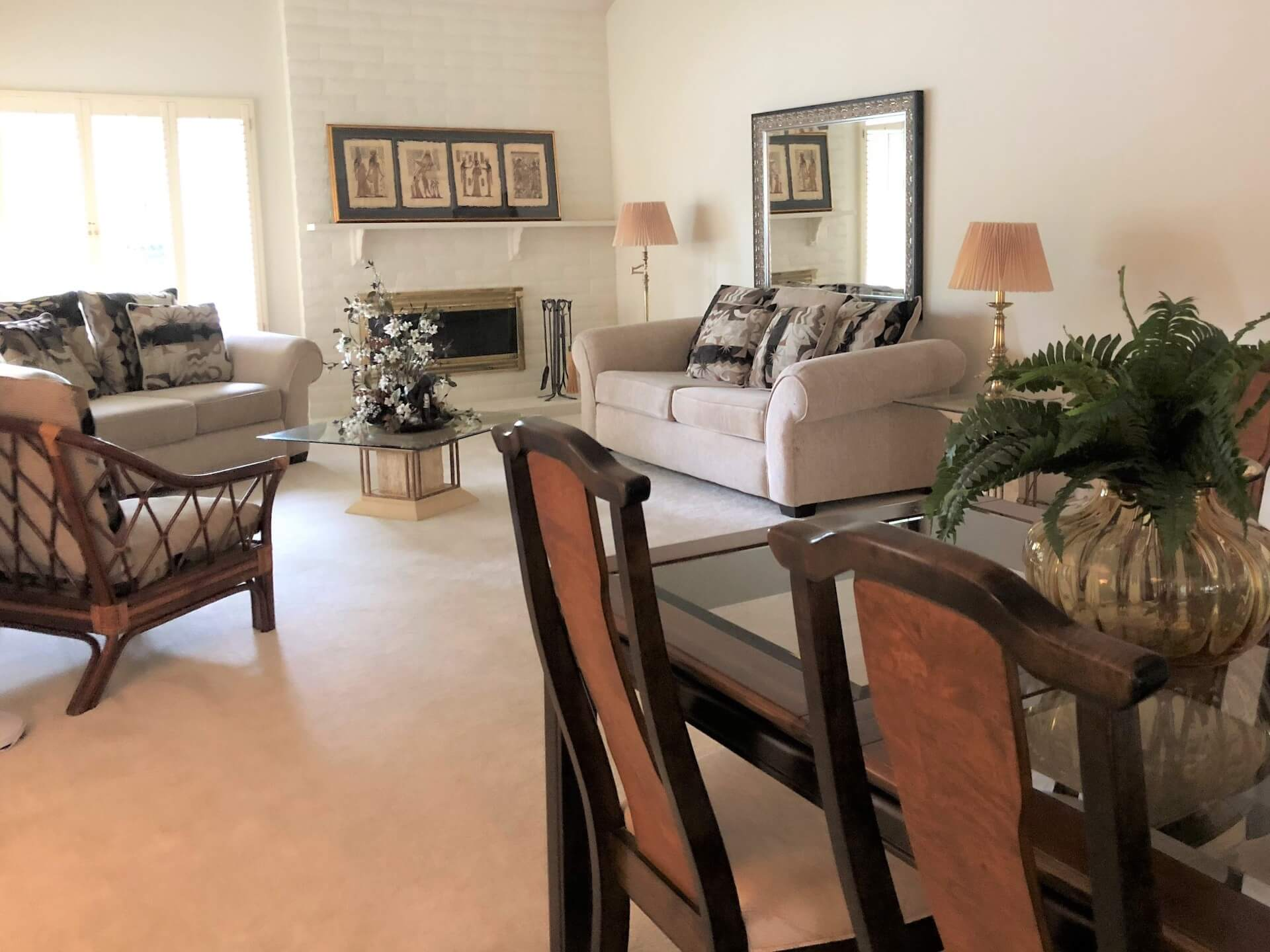living room showing Sacramento interior design and home staging services